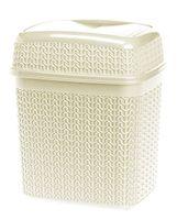 Kosz uchylny WILLOW 5 l na śmieci odpadki kremowy sweterkowy wzór