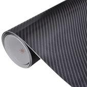 Naklejka samochodowa winyl/carbon 4D czarna 152 x 500 cm