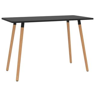 Stół jadalniany, czarny, 120 x 60 x 75 cm, metalowy