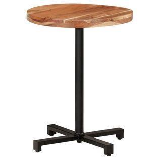 Stolik bistro, okrągły, 60x75 cm cm, lite drewno akacjowe