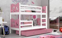 Łóżko piętrowe MAX COLOR 190x80 + szuflada + materace