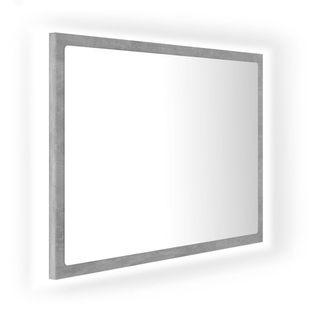 Lumarko Lustro łazienkowe z LED, szarość betonu, 60x8,5x37 cm, płyta!