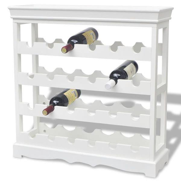 Stojak Regał Na Wino Na 24 Butelki Wina Biały Arenapl