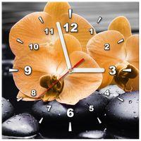 ZEGAR  Pomarańczowe storczyki 30x30