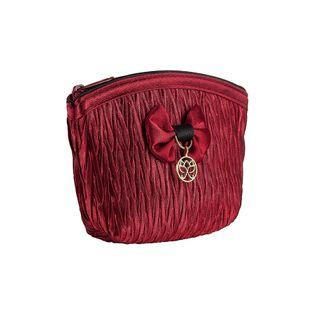 Portmonetka satynowa LOLA w kolorze czerwonym