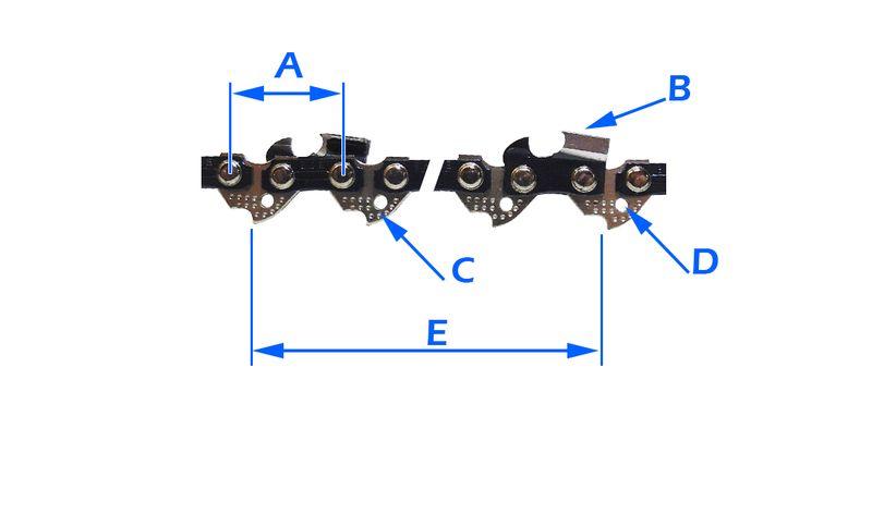 2x Mocny Łańcuch + Prowadnica do Piły NAC CE18 N Y zdjęcie 3