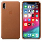 Apple Leather Case - Skórzane etui iPhone Xs Max (naturalny brąz)