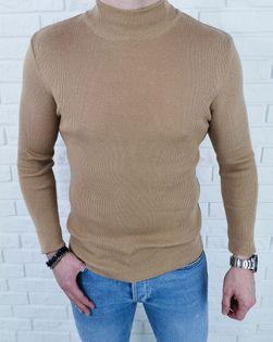 Półgolf sweter męski beżowy 3431 - M