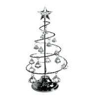 Choinka Świecąca Kryształki Led Boże Narodzenie Srebrna