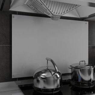Lumarko Panel ochronny do kuchni, biały, 90x60 cm, szkło hartowane
