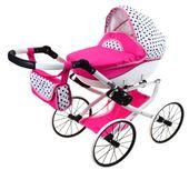 DUŻY Solidny POLSKI Wózek dla lalek lalkowy RETRO Metalowe koła zdjęcie 4