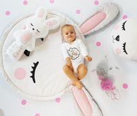 Mata królik z poduszką i maskotką 120 cm