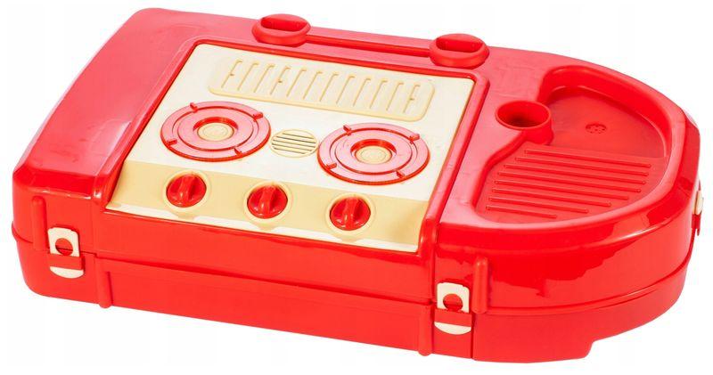 Kuchnia dla dzieci w walizce Piekarnik Zlew Akcesoria kuchenne U07 zdjęcie 4