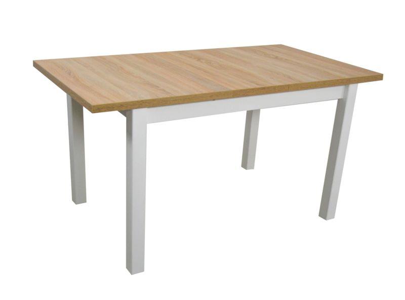 6 Krzeseł I Drewniany Stół Biały Blat Sonoma Arenapl