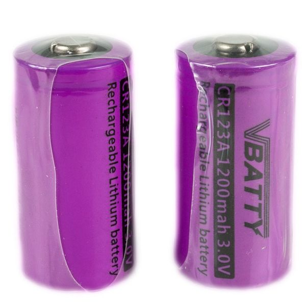 2x bateria akumulatorek CR123a 3,0 V 1200 mAh nowy RCR 16340 Li-ion Lithium na Arena.pl