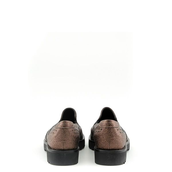 3353a185 Made in Italia skórzane buty damskie pantofle lordsy brązowy 38 zdjęcie 2