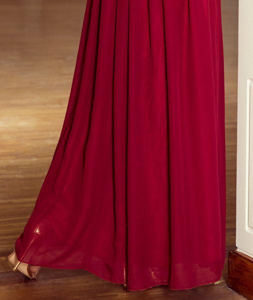 Sukienka Maxi Na Przyjęcie Wesele Bal Bordowa Na Ramiączka 166-3 L 40 zdjęcie 11