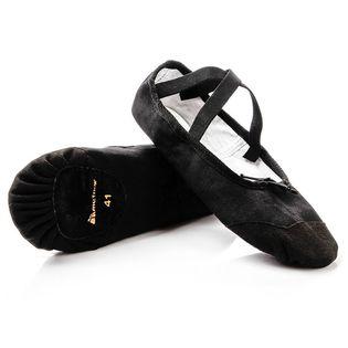 Baletki gimnastyczne bawełniano-skórzane Meteor czarne 43