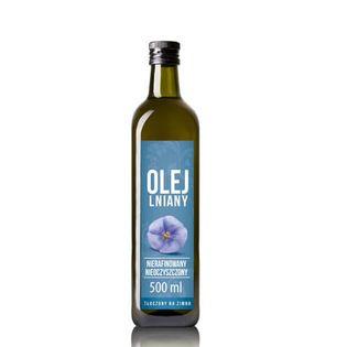 Olej lniany 0,5l VitaFarm