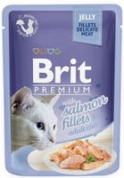 Brit Pouch Jelly Fillets With Salmon 85 G