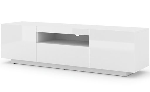 Szafka RTV AURA 150 uniwersalna wisząca biały połysk