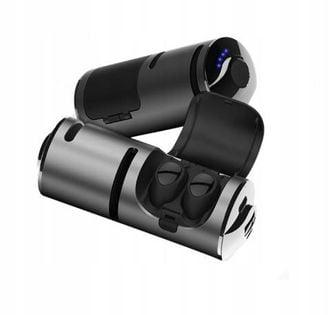 słuchawki Bluetooth dotykowe głośnik powerbank 3w1 t8-silver