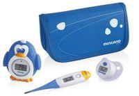 Zestaw 3 termometrów Miniland - termometr flexi, do kąpieli, smoczek
