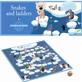 DJECO Klasyczna Gra planszowa Węże i drabiny