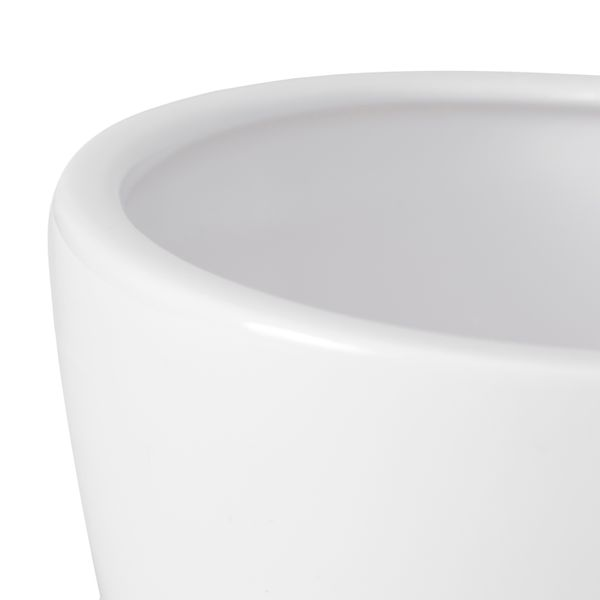 Ceramiczna owalna miseczka doniczka osłonka 21 cm czarny na Arena.pl