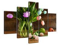 Obraz Drukowany 100x70 Kolorowe tulipany  krajobraz  jedyny w swoim rodzaju