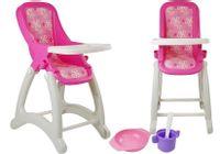 Zestaw Zbiorowy Krzesełko do lalek Baby Nr 2  Biało - Różowy 48011