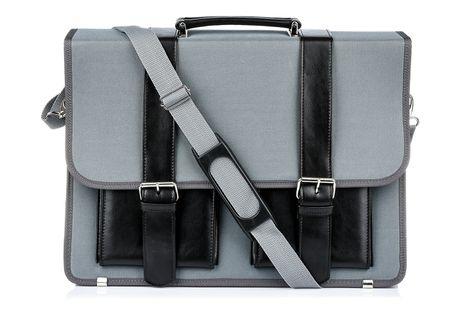 Szara Beltimore luksusowa męska aktówka teczka torba duża na laptopa I36