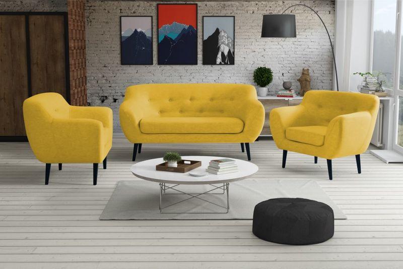Sofa FINKA 3 PIK kanapa skandynawska vintage retro szara prl RIBES zdjęcie 5