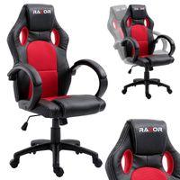 Fotel Gamingowy Obrotowy dla Gracza RACER RED