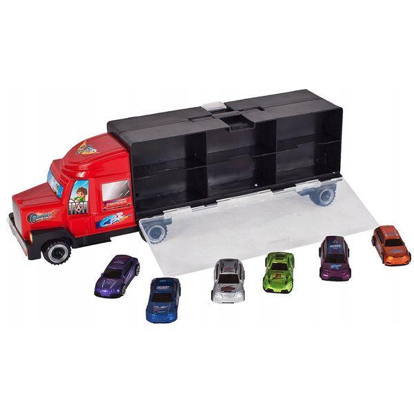 Ciężarówka z walizką z metalowymi autami TIR Y187 zdjęcie 8