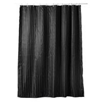 Zasłona prysznicowa ALGUA 180x200 poliester czarna swe