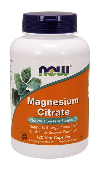 NOW FOODS Magnesium Citrate Cytrynian magnezu 400mg 120wege kaps na Arena.pl