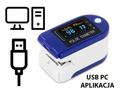 Pulsoksymetr  CONTEC CMS50D-BT USB PC Aplikacja