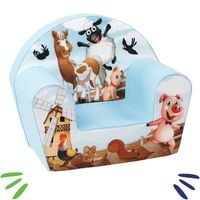 DELSIT mięciutki fotelik pufa z pianki dla dziecka Farma