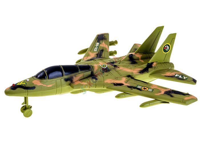 Samolot Wojskowy Myśliwiec + Figurka Flaga Efekty zdjęcie 9