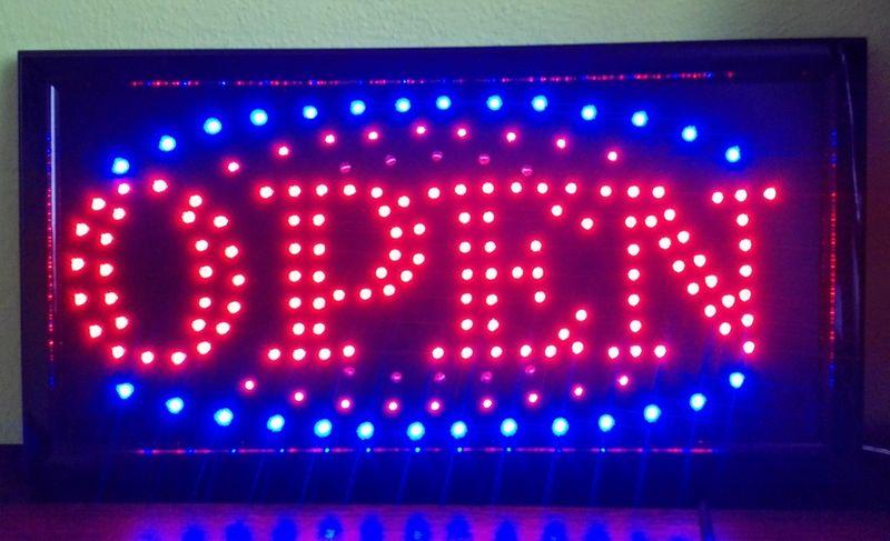 TABLICA LED NEON PANEL REKLAMA OTWARTE 24H OPEN zdjęcie 3