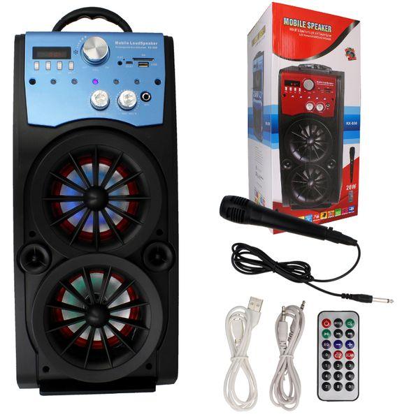 Głośnik Miniwieża Boombox 60W LED Bluetooth + Mikrofon RX-S50 G208Z zdjęcie 14