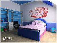 Naklejka dekoracyjna D 91, D91, samochód, auto, car Rozmiar - M, Kolor - Miętowy, Odbicie lustrzane - Tak