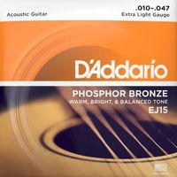 Struny do gitary akustycznej Daddario EJ15 10-47