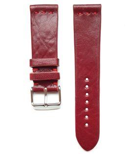 Pasek do zegarka 22mm skóra czerwony - polskie - Lamato