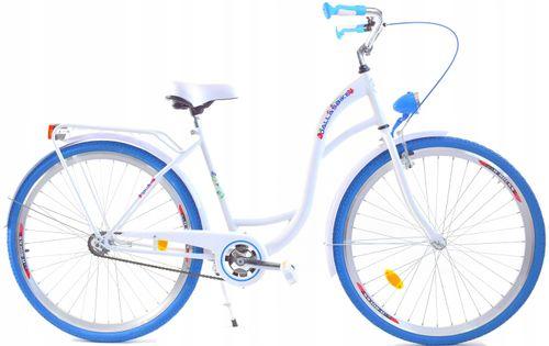 """Rower Dallas City 28"""" 1spd - biały z niebieskim"""