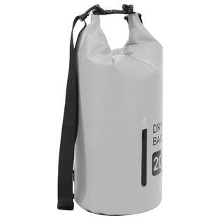 Lumarko Worek wodoszczelny z suwakiem, szary, 20 L, PVC