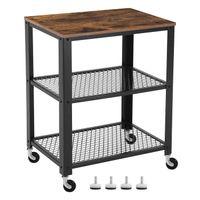 Szafka wózek do serwowania rustykalny industrialny na kółkach meble loftowe LRC78X