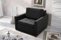 Fotel Rozkładany Mała Sofa Meble Salon Sypialnia Verona Czarny