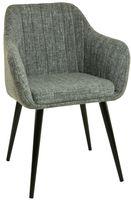 Fotel Dankor Design PIK jasny szary nogi czarne